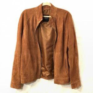 Light brown/tan men's suede jacket